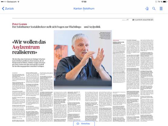 Die Zeitung digital lesen mit der neuen E-Paper-App.