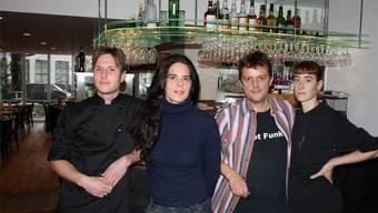 Die Crew des Restaurants Stalden (v. l.): Koch Adrian Dennler, Adelaide Franchini, Franz Schäfer und Küchenchefin Esther Bucher. ww