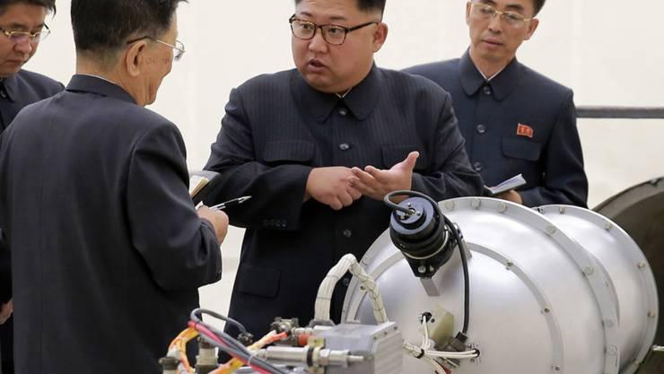 Unter der Führung des Diktators Kim Jong Un hat Nordkorea am Samstagmorgen einen weiteren Raketentest durchgeführt. (Archivbild)