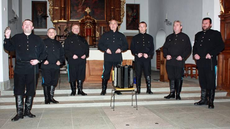 Der Ural Kosaken Chor in der Klosterkirche Sursee