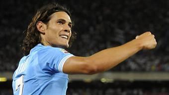 Napolis Matchwinner Edinson Cavani.