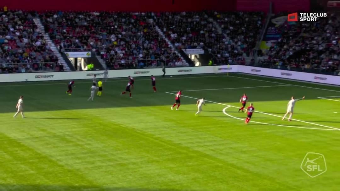 Barrage-Hinspiel, 2018/19, Neuenburg Xamax – FC Aarau, 22. Minute: Tor Stefan Maierhofer