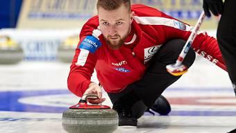 Skip Yannick Schwaller kämpft an den Europameisterschaften um die letzte Chance