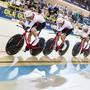 Der Schweizer Bahnvierer im letzten Oktober an den Europameisterschaften in Apeldoorn im Einsatz