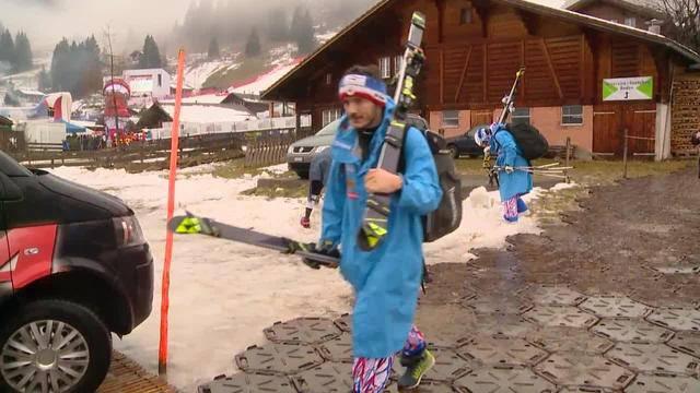 Riesenslalom abgesagt: Ski-Fans lassen sich Laune nicht verderben
