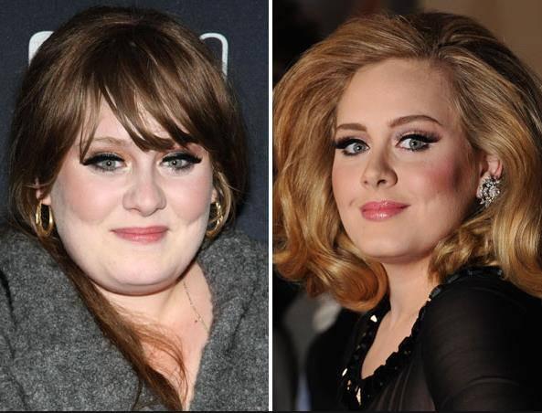 Ganz richtig. Adele war nicht nur unten rum etwas knubbliger.