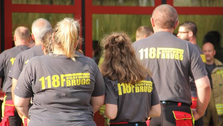 Feuerwehr Brugg bei ihrer Hauptübung 2019