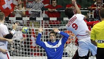 Teileinsatz für Schweizer Goalie Nikola Portner.