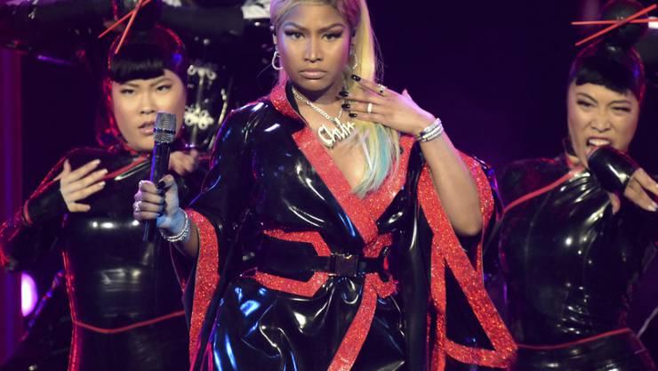 US-Rapperin Nicki Minaj bei einem Auftritt in Los Angeles im Sommer 2018. (Archivbild)