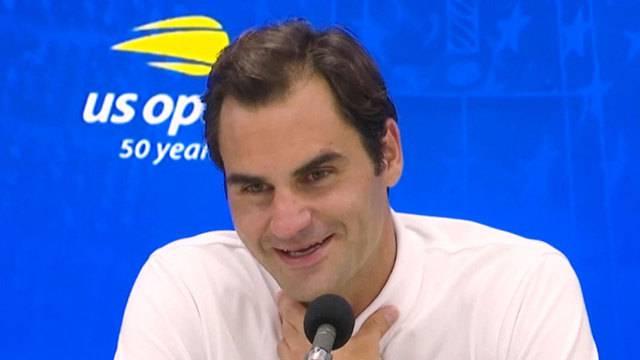 Roger Federer ist gerne zurück in New York