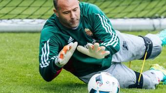 Seit Dienstag ältester EM-Spieler aller Zeiten: Ungarns Goalie Gabor Kiraly