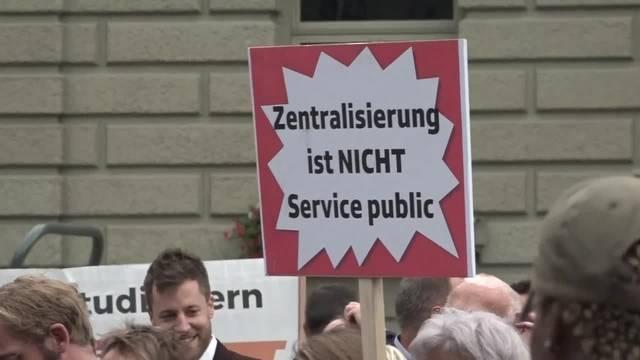 Protest für den Erhalt des Berner Radiostudios