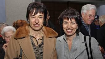 Ruth Humbel (l.) und Doris Leuthard anlässlich der Bundespräsidentenfeier von Leuthard in Aarau.