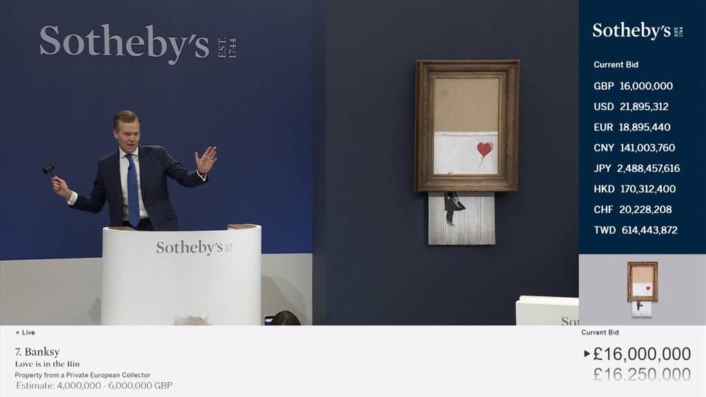 Banksys Schredder-Werk für 20 Millionen Franken versteigert