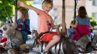 Für die Kinder gibts am Sonntag ein buntes Programm von Attraktionen.