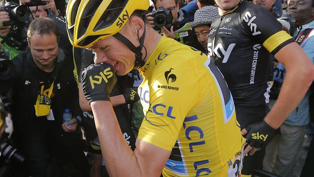 Chris Froome fährt wieder in Gelb (Archivaufnahme)