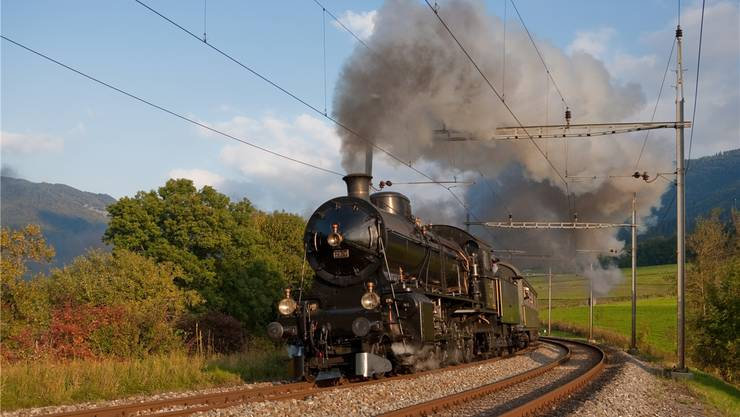 Die Dampflokomotive C 5/6 2978 von SBB Historic wird an der Eröffnung des Gotthard-Basistunnels am ersten Juni-Wochenende in Biasca präsentiert. zvg/SBB Historic