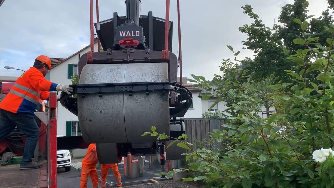 Die Dampfwalze landet wieder in Lenzburg
