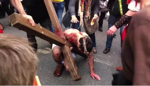 Jesus-Schauspiel in Basel