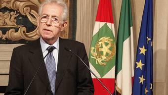 Mario Monti kurz nach seiner Ernennung am Sonntagabend