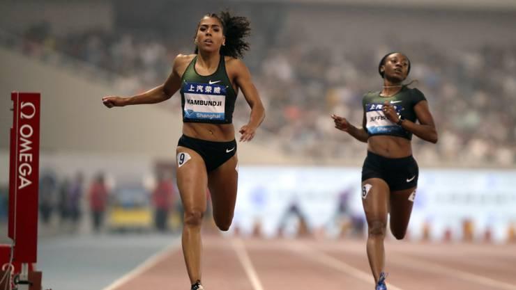 Mujinga Kambundji (links) lief in Rom über 200 m auf den 3. Rang