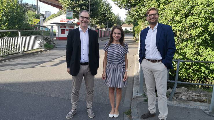 Drei Exponenten des Suhrer Komitees Pro Zukunftsraum: Jürg Lienhard (l.), Claudia Schade und Dominik Obrist.