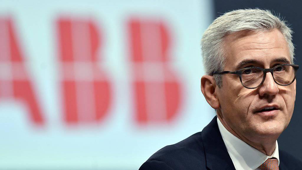 """ABB-Chef Ulrich Spiesshofer sieht in der Übernahme der österreichischen B&R eine """"einmalige Chance"""" für beide Unternehmen auf dem Weg in die Vierte Industrielle Revolution. (Archiv)"""