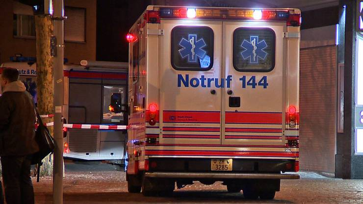 Symbolbild: Krankenwagen in der Langstrasse.