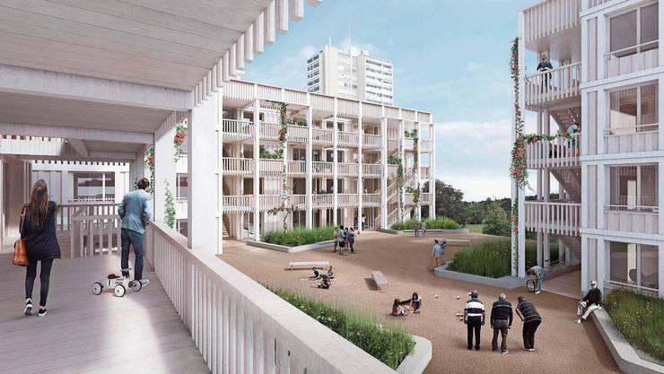 In den 15 geplanten Neubauten auf dem Brisgi-Areal sollen 220 Wohnungen entstehen.