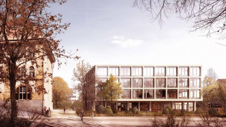 Visualisierung des Siegerprojektes des  Zürcher Architektürbüros Zimmer Schmidt Architekten