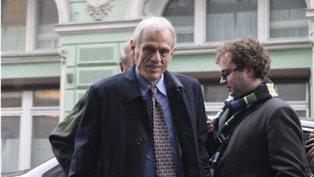 Michaelis Sarris, zyprischer Finanzminister, vor seinen Gesprächen in Moskau am Mittwoch.