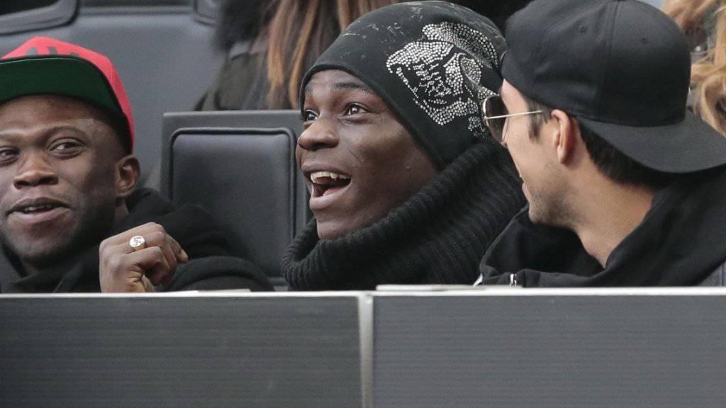 Mario Balotelli musste oft verletzt auf der Tribüne sitzen