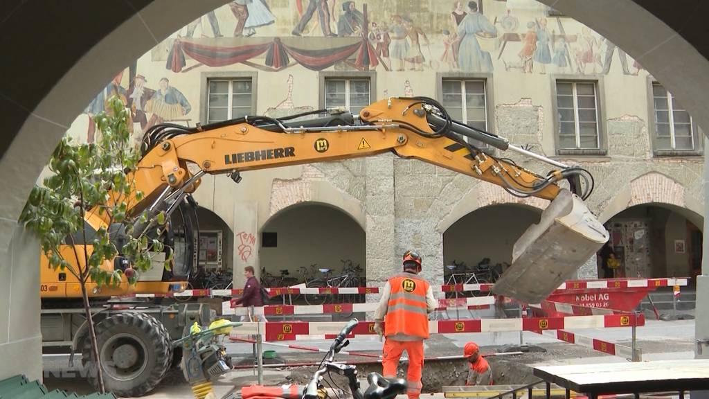 Umsatzeinbussen wegen ewiger Baustelle in Rathausgasse
