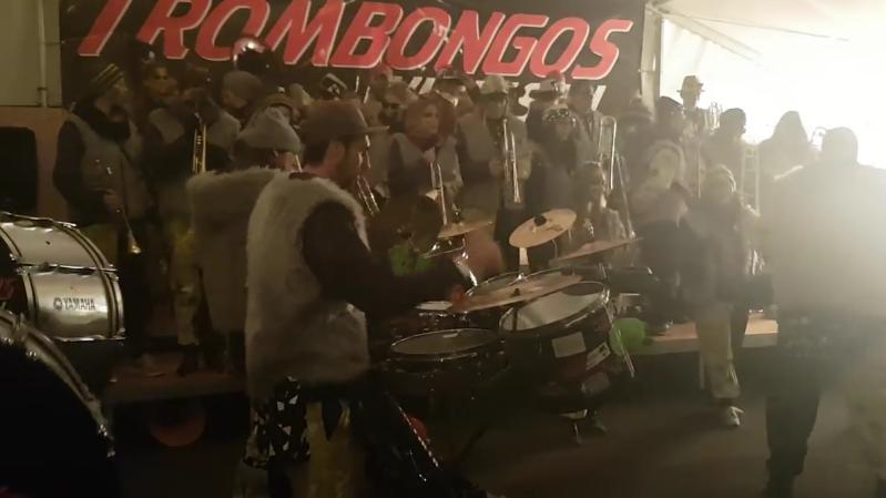 Fasnachtseröffnung mit der Guggenmusik Trombongos Windisch in Windisch