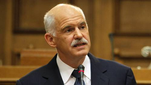 Der griechische Premier Giorgos Papandreou will das Volk über die Schuldenvereinbarung abstimmen lassen