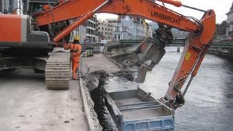 In Ennetbaden wird die Limmatpromenade abgerissen.