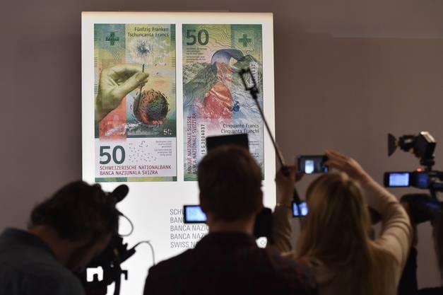 Die Nationalbank enthüllt die neue 50er-Note. Bislang war nur der Entwurf bekannt.