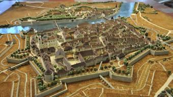 Das Modell bildet Solothurn vor dem Schanzenabbruch ab – auch dieser wird im neuen Buch zur Solothurner Stadtgeschichte behandelt. (Archivbild)