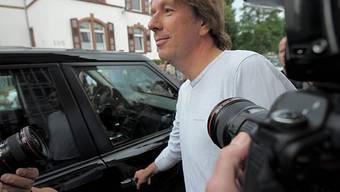 Freilassung: grosses Medieninteresse an Kachelmann (Archiv)