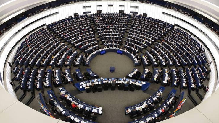 Der Sitzungssaal des EU-Parlaments in Strassburg.