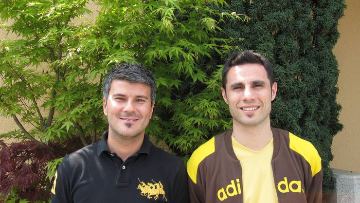 Das neue Trainerduo des FC Affoltern: Dragan Filipovic (links) und Enzo Puntillo. (Bild Christian Faoro)