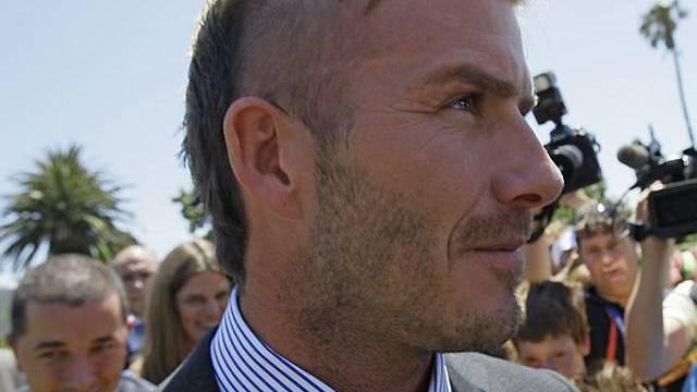 David Beckham schneidet sich manchmal die Haare selber (Archiv)
