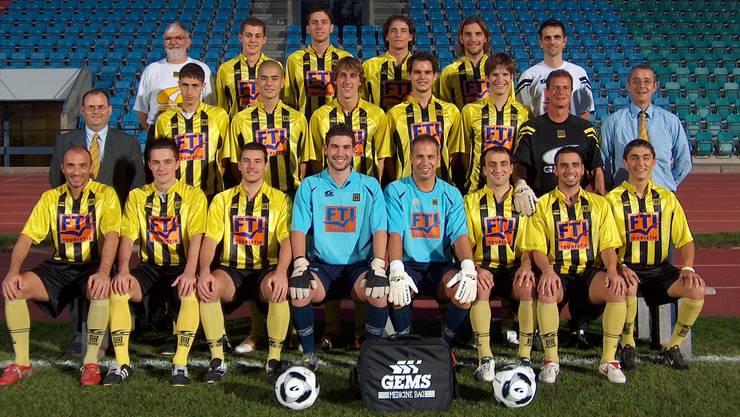 Aus dem Archiv: Die 1. Mannschaft des BSC Old Boys aus den Jahren 2005 und 2006.