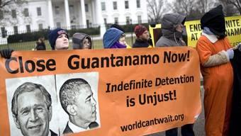 Guantanamo-Gegner vor dem Weissen Haus