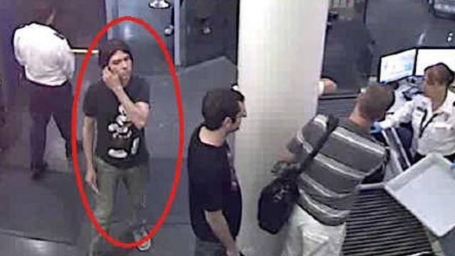 Der mutmassliche Mörder wurde bei einer Sicherheitskontrolle gefilmt (Archiv)