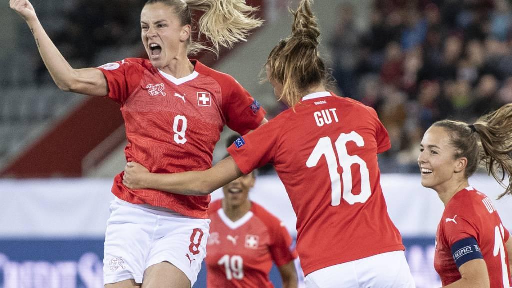 Schweizer Frauen lancieren den Schlussspurt in der EM-Qualifikation