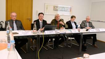 Gaston Barth (Präsident Personal- und Organisationsausschuss), Reto Bachmann (Direktor PKSO), Beat Käch (Präsident Verwaltungsratskommission), Roland Heim (Vize-Präsident Verwaltungsratskommission) und Alois Müller (Präsident Anlageausschuss).