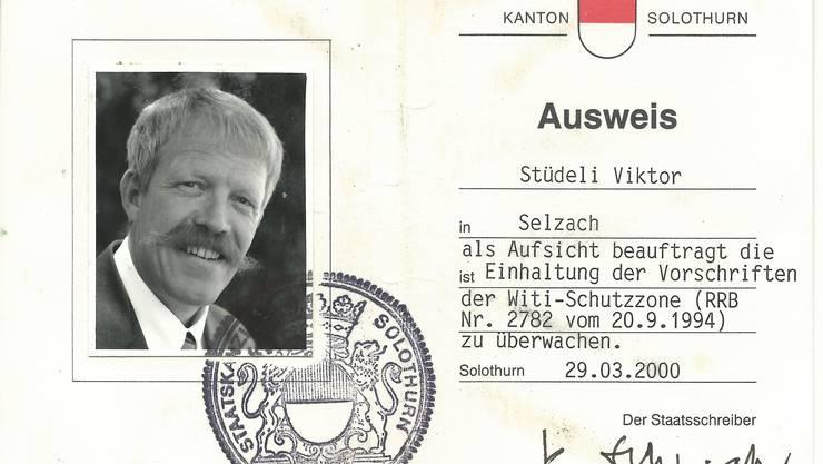 In amtlicher Mission: Der Ausweis des «Witi-Sheriffs» Viktor Stüdeli