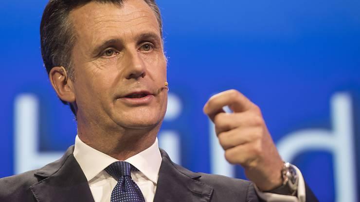 Der frühere Nationalbankpräsident Philipp Hildebrand spricht am Swiss Economic Forum in Interlaken über das Erfolgsmodel Schweiz.