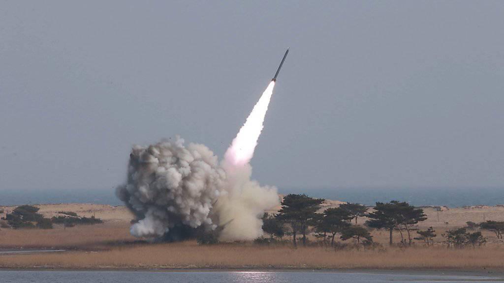 Raketentest zum Fünften: Nordkorea zündelt weiter. (Archivbild)